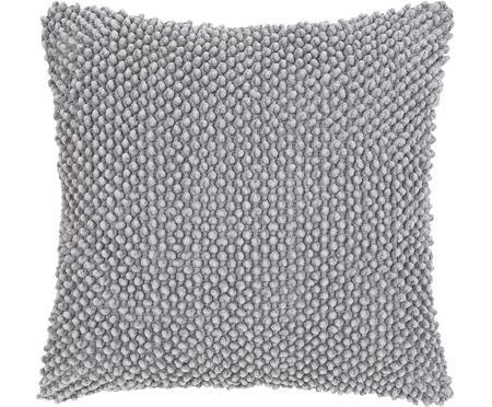 Kussenhoes Indi met gestructureerde oppervlak in grijs