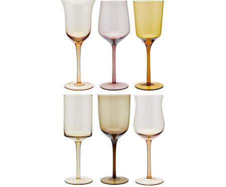 Kleurrijke mondgeblazen wijnglazenset Desigual, 6-delig