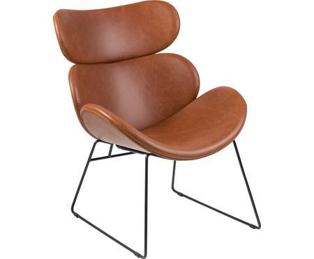 Moderne loungefauteuil Cazar van kunstleer