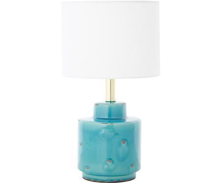 Keramische tafellamp Cous met antieke afwerking