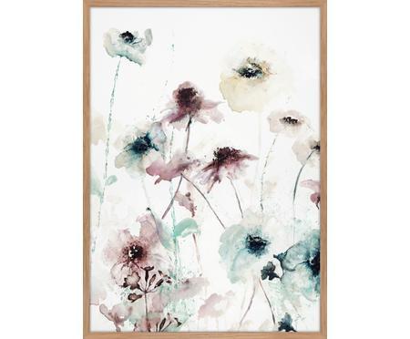 Ingelijste canvasdoek Flower Dance