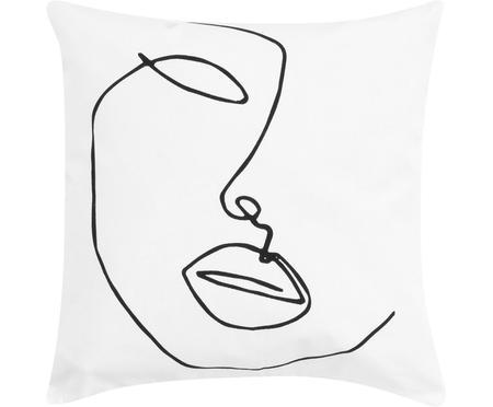 Kussenhoes Ariana met abstracte One Line tekening