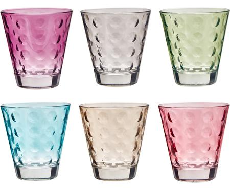 Waterglazen set Gunnar in kleur, 6-delig