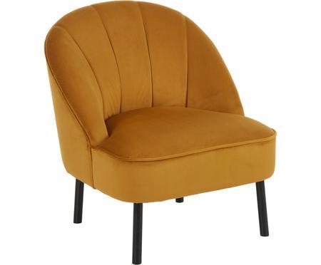 Fluwelen fauteuil Aya