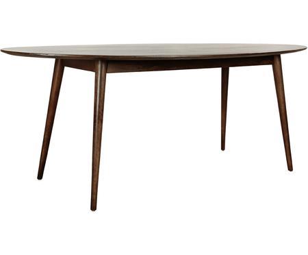 Ovale massief houten eettafel Oscar