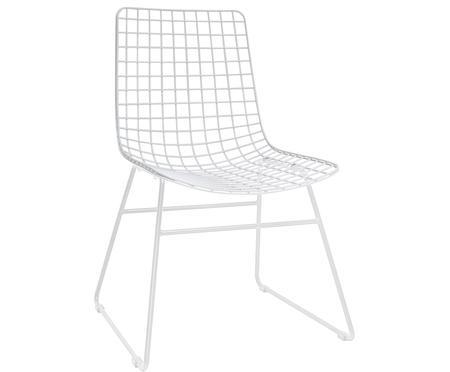 Metalen stoel Wire in wit