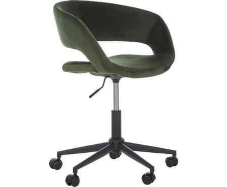 Fluwelen bureaustoel Grace, in hoogte verstelbaar