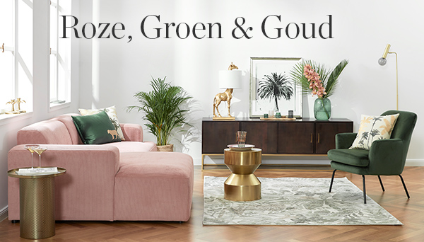 Roze, Groen & goud