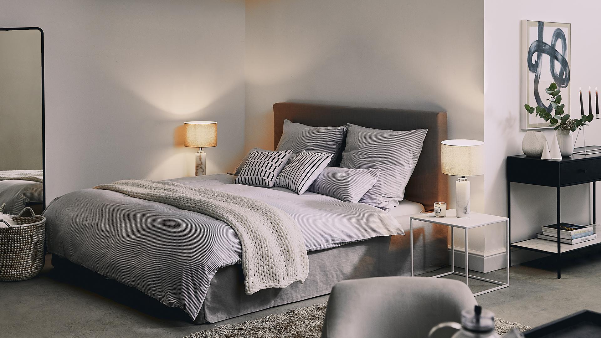 Slaapkamer in grijs