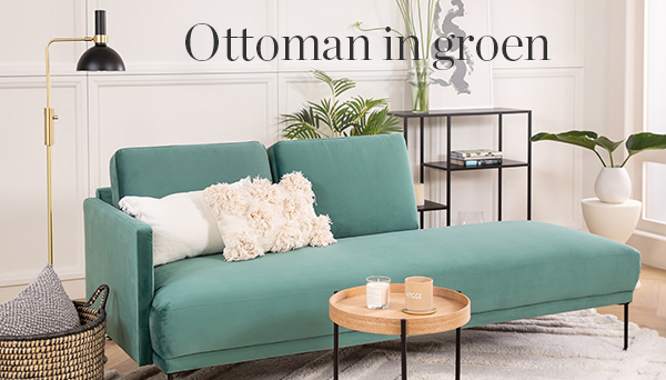 Ottoman in groen